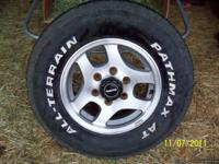 15 INCH RIMS WITH TIRES! SIZE P235/75R15 20% tread