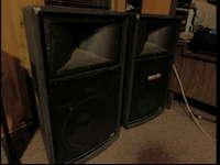"T153 15"" Loudspeakers, offered as a pair: one totally"