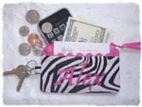 This listing is for one handmade Personalize Zebra