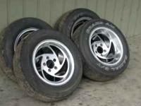 "I have 4 15"" polished aluminum flame rims for sale."