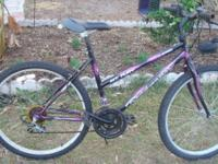 """Made by Roadmaster 15 speed, shifts well 26"""" wheels,"""