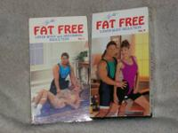 2 VHS Tapes..... Tony Little's Fat Free series helps