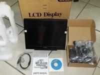 "I am selling New in box a 15"" Touchscreen monitor with"