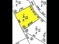 Level building lot on 1.46 acres in Green Hill Estates