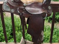 Very nice Western saddle that has Sterling Silver and
