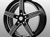 Only 70.00ea for black and machined new wheels in 15""