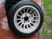 "15"" Aluminum rims with tires. The tires are brand new"