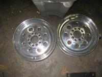 I HAVE ANEW SET OF 15 X 5 WELD WHEEL DRAG LITES 4 1/2