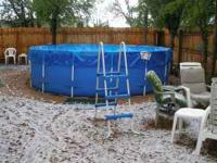15' round x 4' deep pool with a Jacuzzi sand filter and
