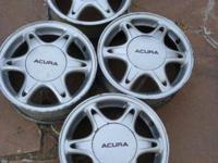 4 alloy wheels off a Acura Integra. Terrific condition