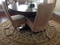 4 Designer Dining Room Chairs. (Table NOT included)