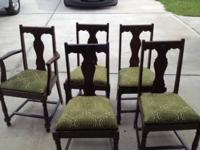 I have 5 antique T Back dining table chairs that have
