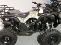 This is a Veloz 150 ATV made by Tao Tao. It has forward