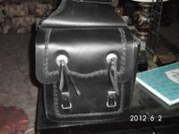Custom Crafted Leather Motorcycle Saddle Bags. The