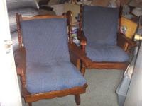 Unique Wood Frame Couch & 2 Chairs (1Chair is a