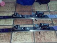 Ladies Volant Power L snow skis with Marker bindings.