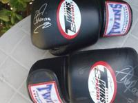 UFC Fighter ALISTAIR OVEREEM Autographed Leather Twins