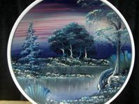 Gorgeous hand painted collectors plates; this is a one