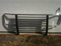 This is a heavy-duty Westin grill guard with dual