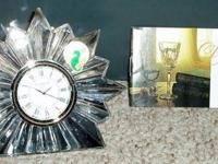 BRAND NEW WATERFORD CRYSTAL CLOCK. It comes in the