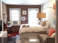 Cozy newly furnished studio apartment with exposed