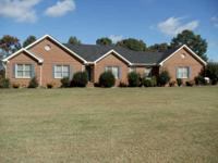 ATTRACTIVE 3BR, 3.5BA CUSTOM BUILT BRICK HM & 5 ACRES.