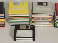 One hundred fifty eight 3.5 floppy diskettes. I did