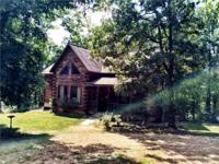 LOG HOME FOR SALE IN ARKANSAS OZARKS. Located in the