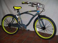 NEW 26? Beach Cruiser Huffy Newport 7 Speed Blue &