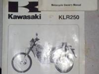 This is the complete KLR 250 service manual and