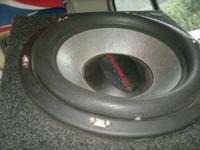 "I got a 15"" Orion sub with a 2600 watt amp which is a"