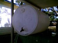 I have 1 55 gal plastic drum w/ screw cap and a faucet