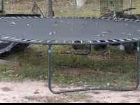 This trampoline is in good condition.The frame is a