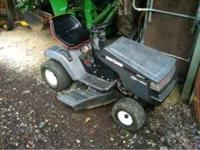 "Craftsmen lawn tractor with 42"" mower deck. Runs and"