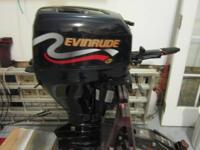 15hp tiller outboard engine. Tiller style, 4 stroke