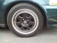 15 inch black j mags with tires clean no scratches 4