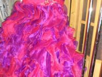 15th Party dress color multi color size 10 used only