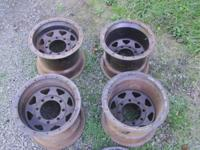 These are 15x12 8 lug beadlock rims. They are in great