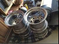 15x12 Bart Racing Super Trucker chrome wheels. I payed