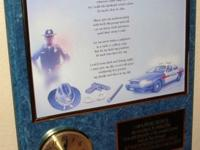 15X12 Policeman's Prayer 8X10 Photo In A Gold Colored