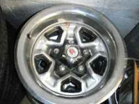 Set of 4 Chevy steel rally wheels. Commonly used on