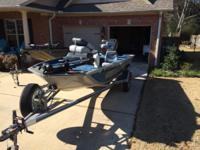 Please call owner Mark at . Boat is in Tupelo,
