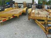 2000 Model 16' 4 ton trailer, yellow, electric brakes,