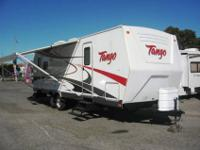 This stylish 2007 Tango trailer is just like new, with