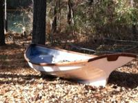 Beautiful, custom, open style rowing boat with