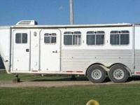 2004 Aluminum Featherlite four horse trailer with