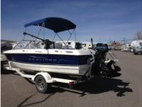 2008 Bayliner 195 Discovery, Bowrider equipped to fish