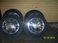 "All Four Matching 16 "" All Chrome Cadillac Rims &"