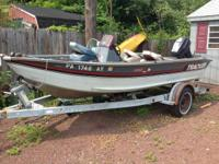 For sale is a 16' aluminum Bass Tracker boat. Included