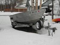 I have a 16' V-Nose fishing boat. Begins a trailer, and